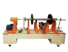 Balancing machine TB 300 with an extended bed for the balancing of rotors up to 300 kg manufactured by Tehnobalans