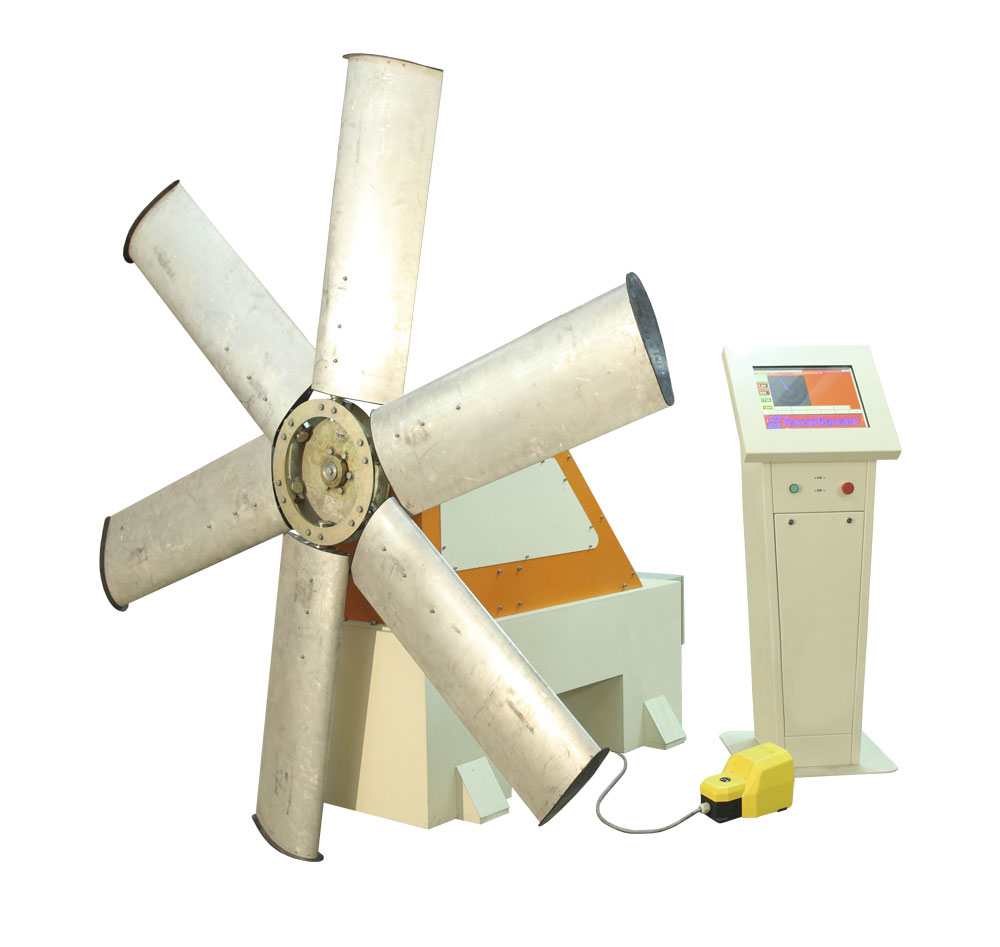 Machine for balancing of fans and impellers weighing up to 250 kg Vent TB 250 production Tehnobalans