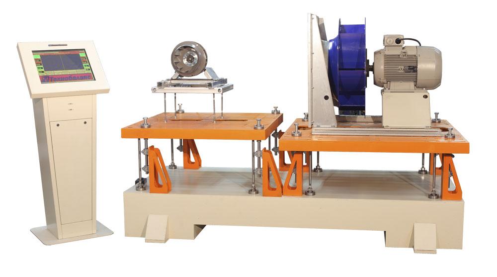 Стенд ТБП 600 для балансировки вентиляторов в сборе с электродвигателем весом до 600 кг производства Технобаланс