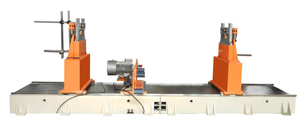 Machine for balancing rotors weighing up to 6000 kg 6000 TB production Tehnobalans