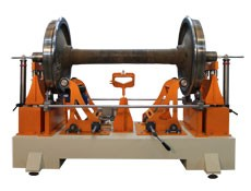 Wheelset train balancing machine TB KP manufactured by Tehnobalans